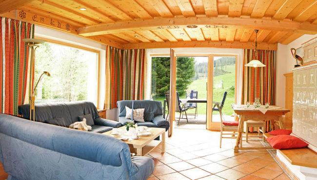 Ferienwohnung Dachstein - Wohnzimmer, Filzmoos